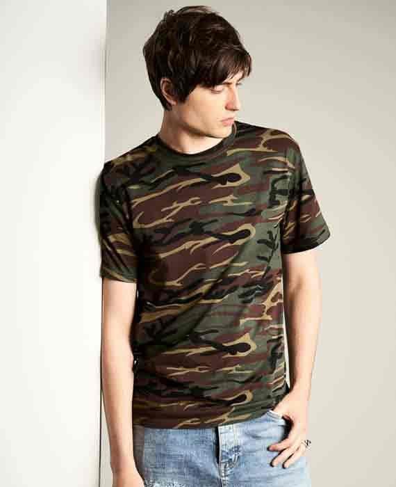 Maglietta Camouflage Uomo