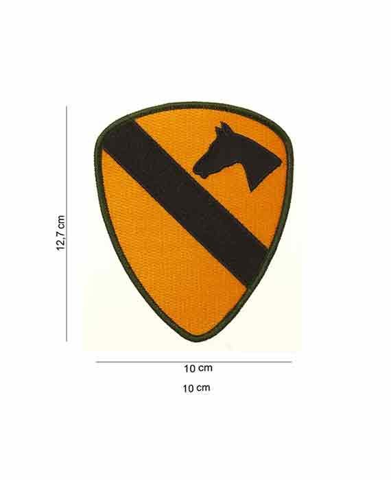"Patch in Tessuto ""Cavalleria US ARMY Verde"""