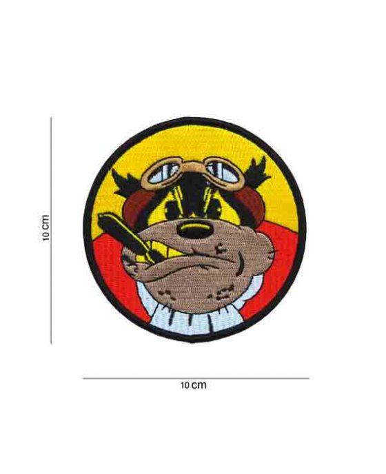 Patch Bulldog in Tessuto Rossa e Gialla