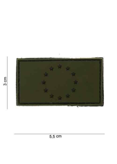 """Patch in PVC stile 3D """"UNIONE EUROPEA"""" Verde e Nero"""