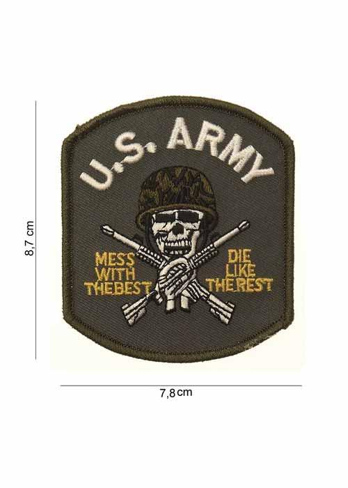 "Toppa in Tessuto ""US Army (teschio)"""