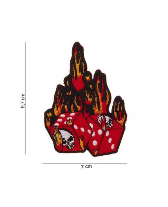 """Patch in Tessuto """"Flaming Dice"""""""
