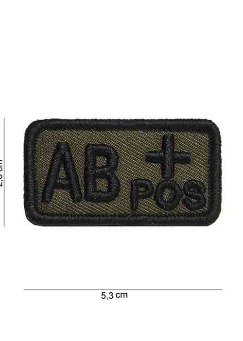 "Patch in Tessuto Gruppo Sangue ""AB+Positivo"""