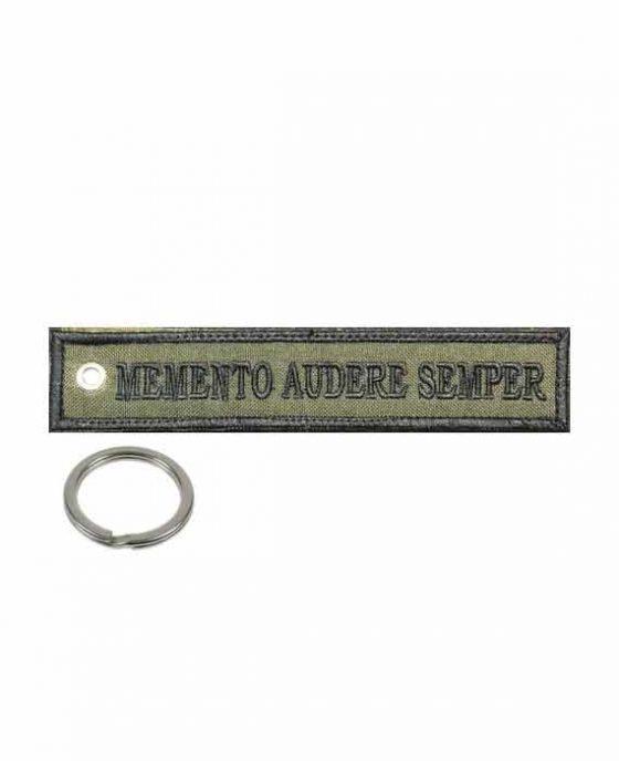 """Portachiavi in Tessuto """"Memento Audere Semper"""""""
