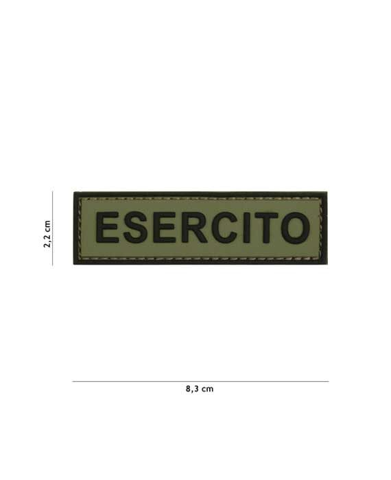 "Patch 3D in PVC ""Esercito"""