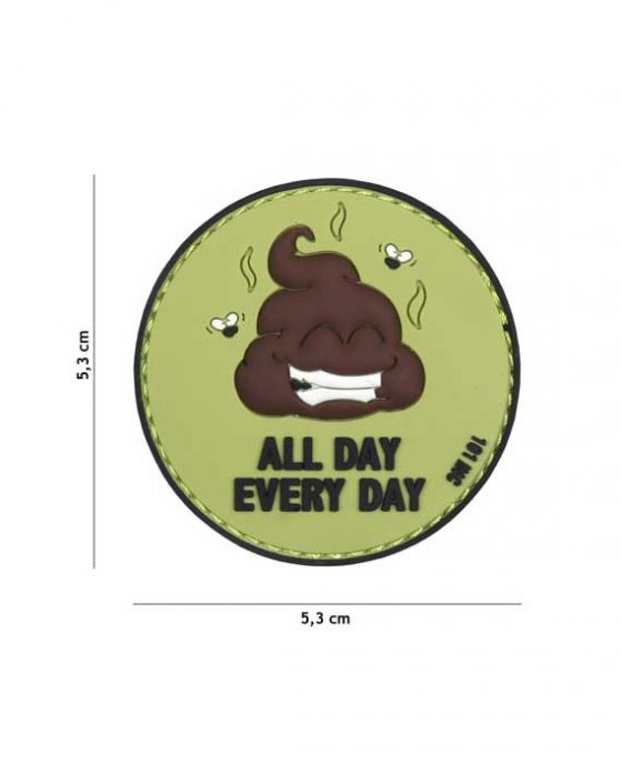 "Patch 3D in PVC ""All day every day verdenero"""