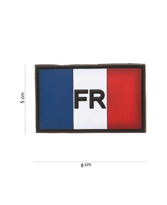 "Patch in PVC effetto 3D ""Bandiera Francese FR"""