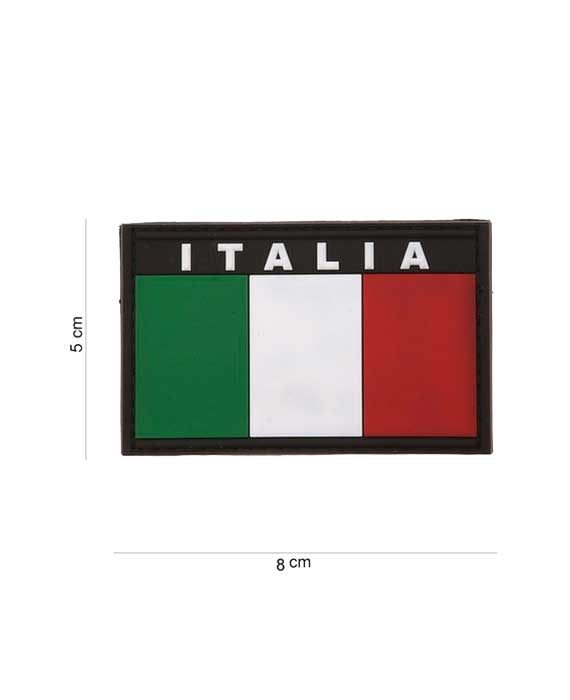 "Patch in PVC Effetto 3D ""Bandiera ITALIA"""