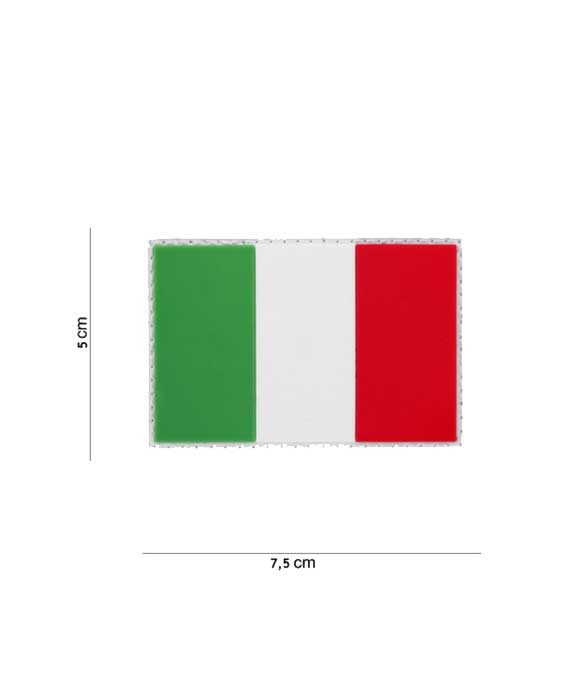"Patch in PVC effetto 3D ""Bandiera Italiana"""