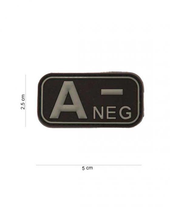 "Patch in PVC effetto 3D Gruppo Sangue ""A-Negativo"""