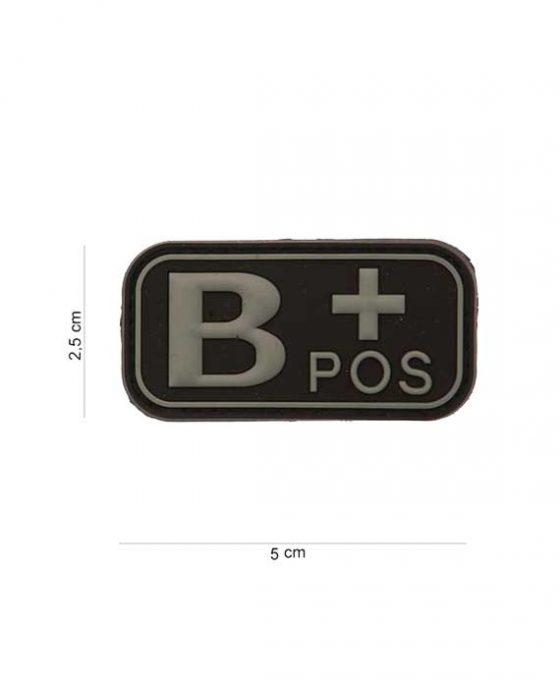 "Patch in PVC effetto 3D Gruppo Sangue ""B+Positivo"""
