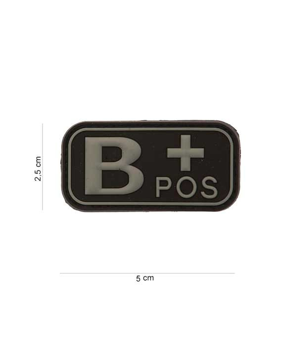 "Patch in PVC effetto 3D Gruppo Sangue ""B+Positivo"""