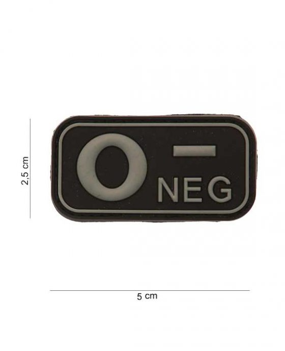 "Patch in PVC effetto 3D Gruppo Sangue ""0-Negative"""