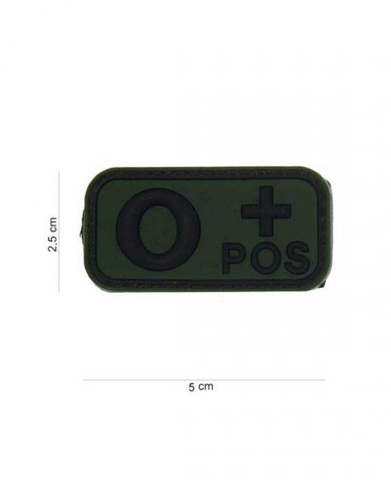 "Patch in PVC effetto 3D Gruppo Sangue ""0+Positivo"""