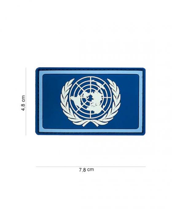 """Patch in PVC effetto 3D Blu """"Organizzazione Nazioni Unite"""""""