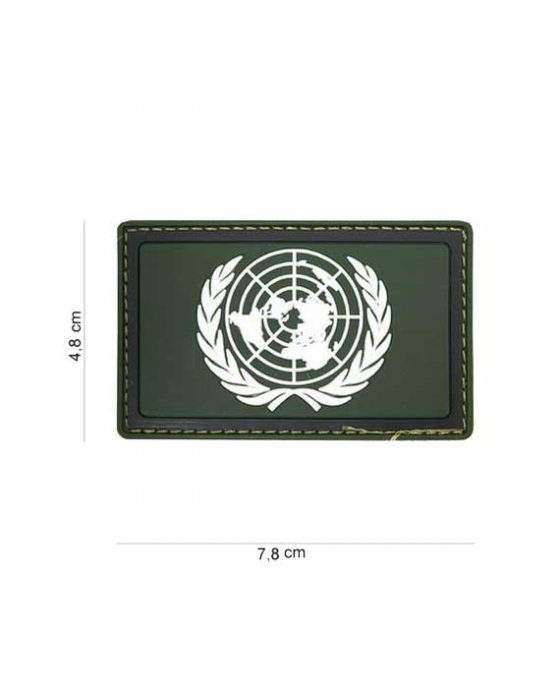 "Patch in PVC effetto 3D Verde ""Organizzazione Nazioni Unite"""