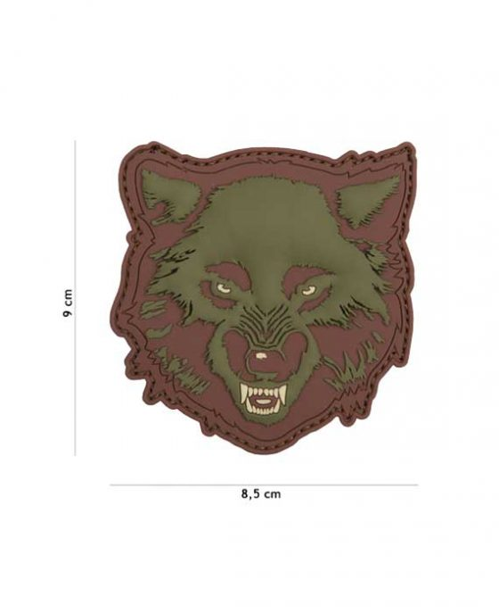 "Toppa 3D in PVC ""Wolf Verde"""