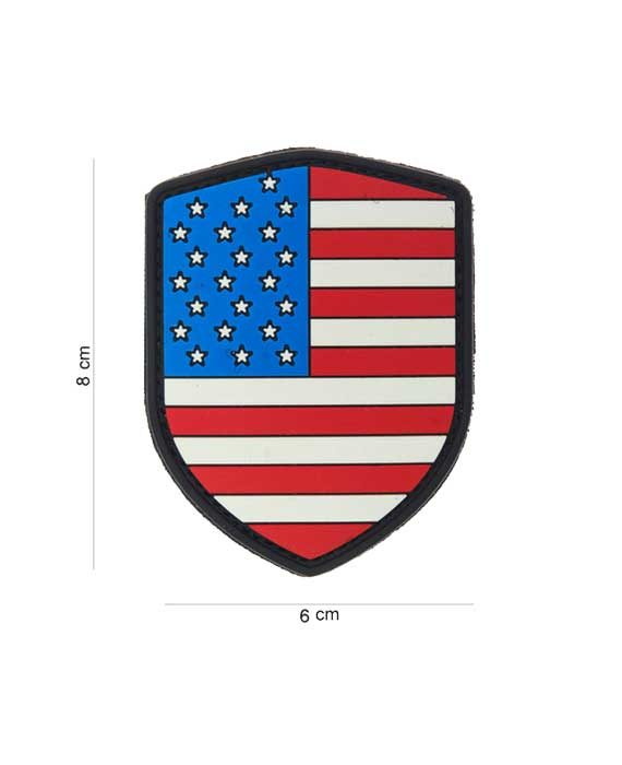 "Patch 3D in PVC ""Scudo USA"""