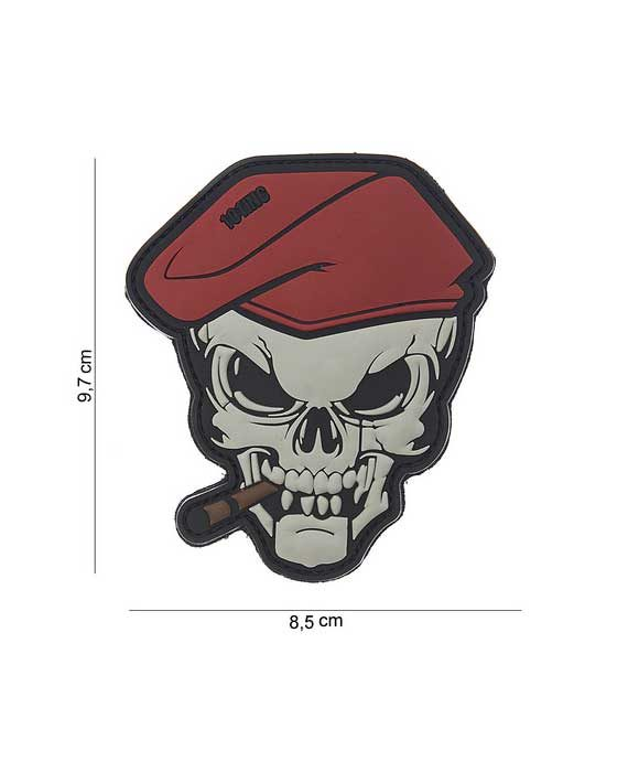 """Patch 3D in PVC """"Teschi con Sigaro"""""""