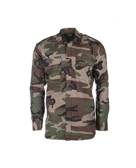 """Camicia in Ripstop """"Mimetica Woodland"""""""