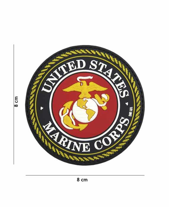 "Patch 3D in PVC ""UNITED STATES MARINE CORPS"""