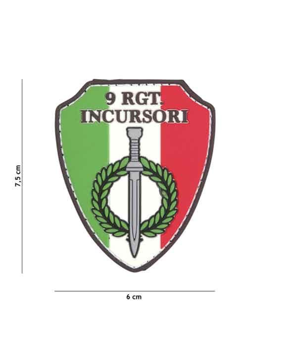 """Patch 3D in PVC """"9 RGT. INCURSORI"""""""