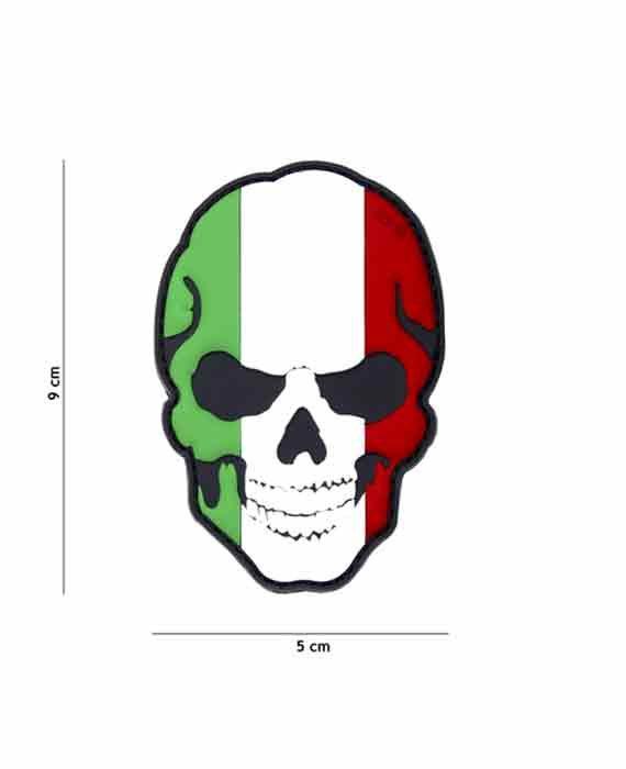 "Patch 3D in PVC ""Teschio Italia"""