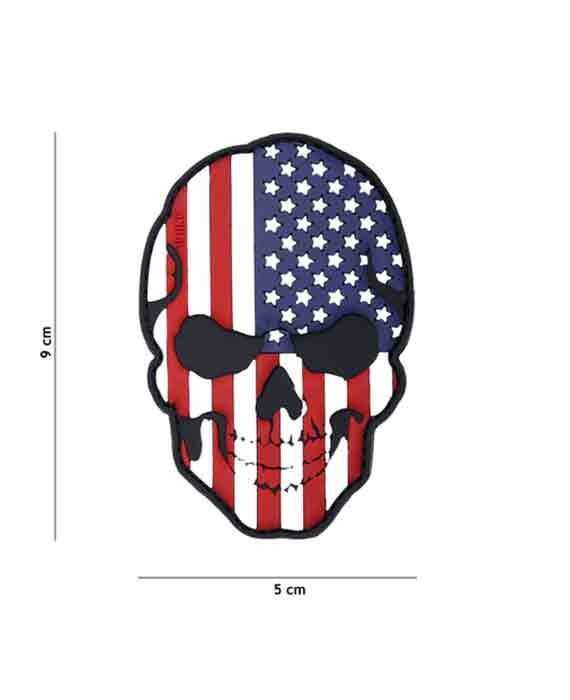"""Patch 3D in PVC """"Teschio USA"""""""