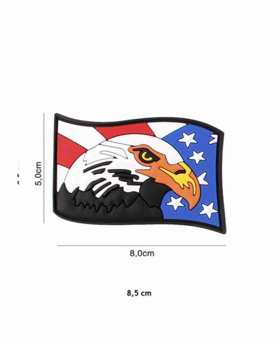 "Patch 3D in PVC ""Vintage Acquila USA"""