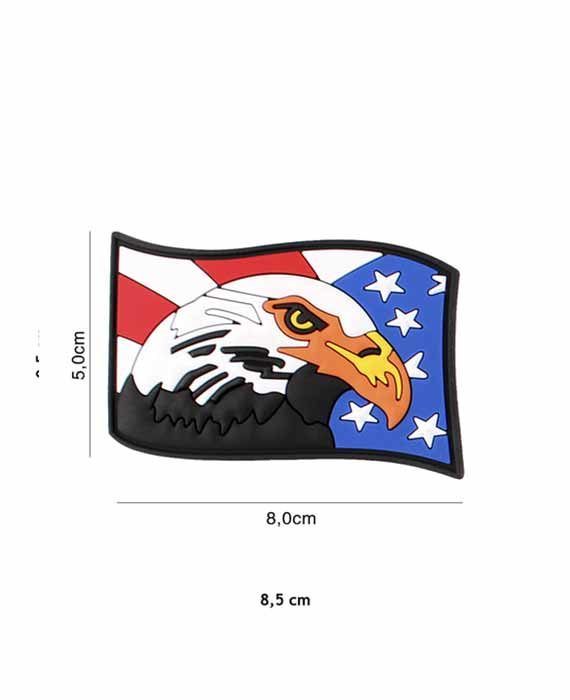 """Patch 3D in PVC """"Vintage Acquila USA"""""""