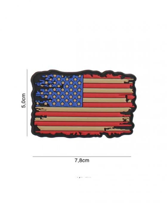 """Patch 3D in PVC """"Vintage USA"""""""