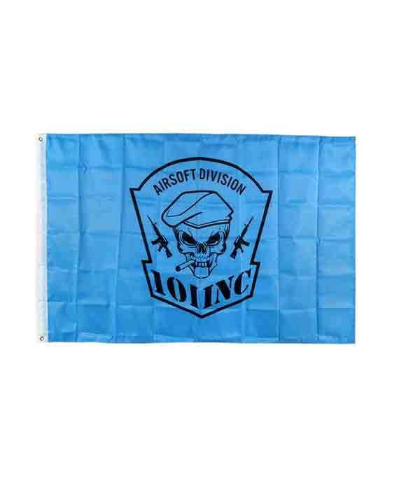 Bandiera Teschio con Sigaro Blu