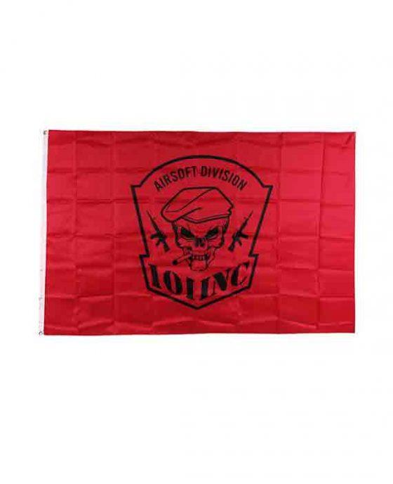 Bandiera Teschio con Sigaro Rossa