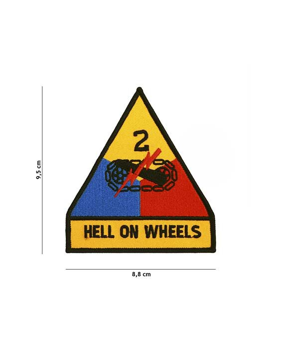 """Patch in Stoffa """"Hell On Wheels"""""""