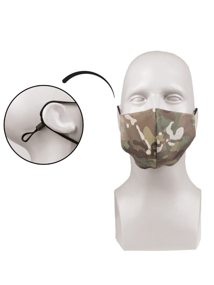 mascherina facciale mimetica