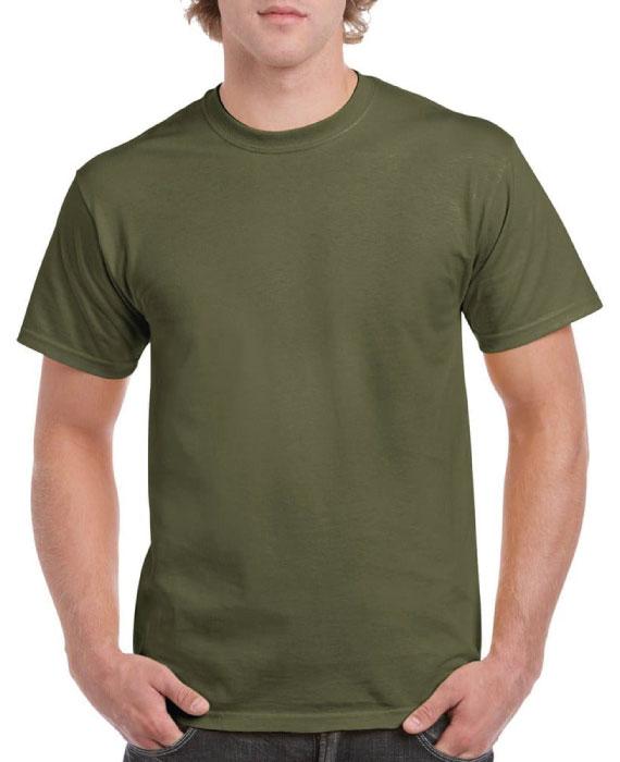 Maglietta-in-Cotone-Verde-Militare