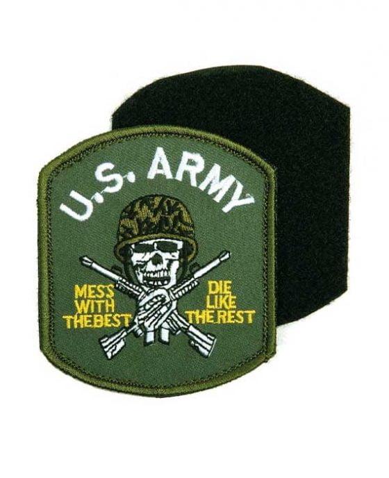 Patch/Velcro Teschio con Elmetto Esercito Americano