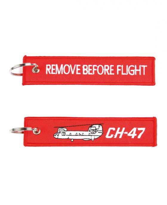 Portachiavi Remove Before Flight + Elicottero Chinook