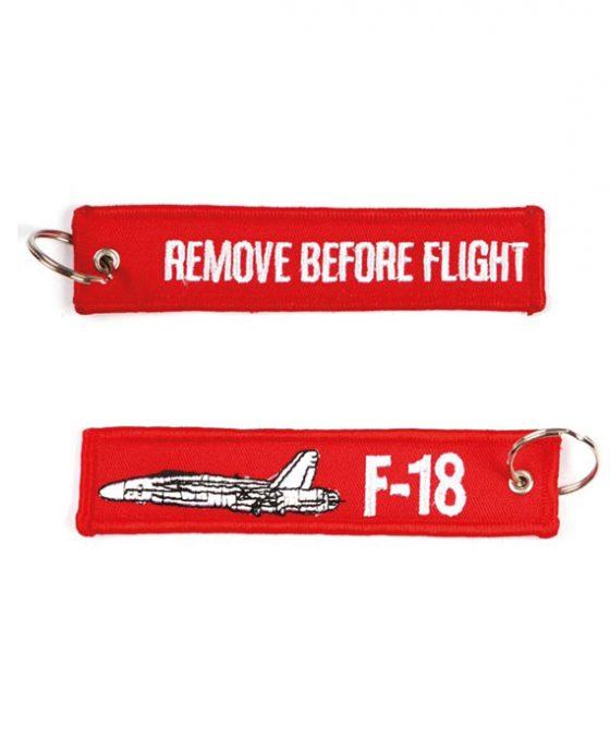 Portachiavi Remove Before Flight + F-18