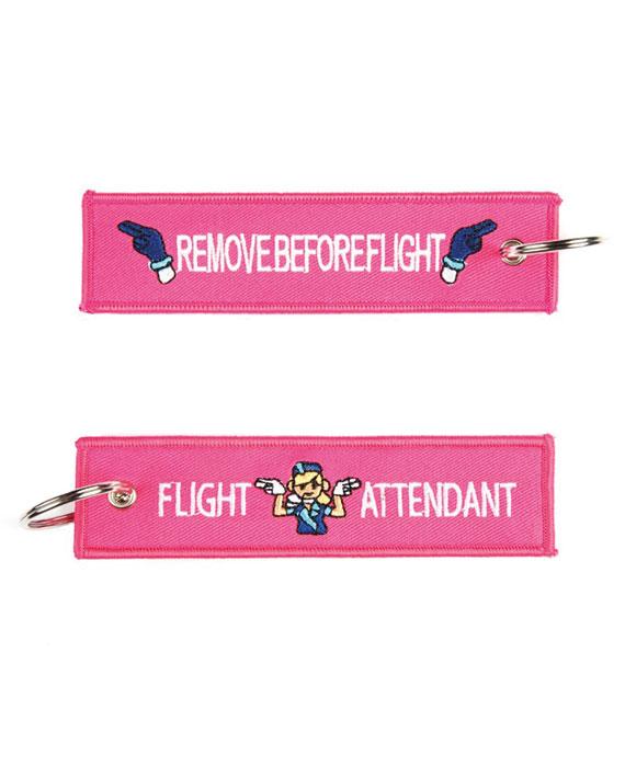 Portachiavi Remove Before Flight + Hostess di Volo