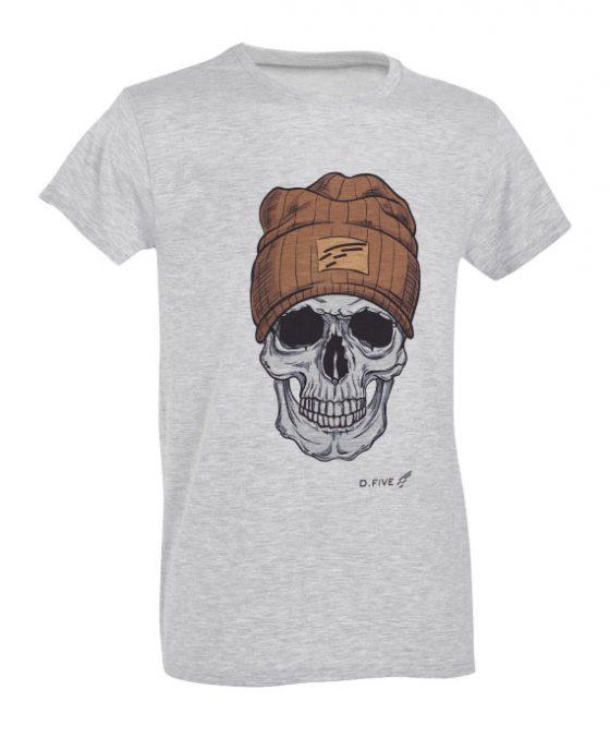 T-Shirt-Teschio-con-Berretto