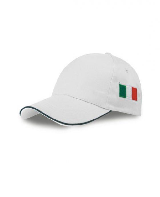 Berretto-Baseball-Italia-Bianco