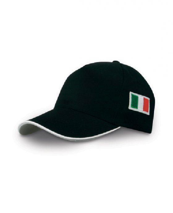 Berretto-Baseball-Italia-Nero